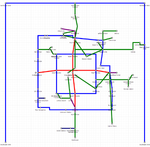 Rail map by Definitive Prize