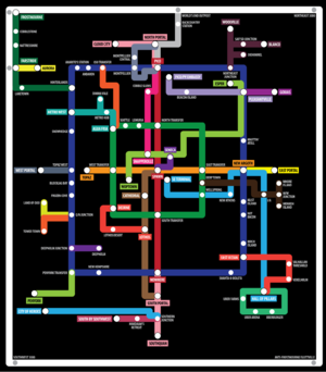 Rail map by castelnau